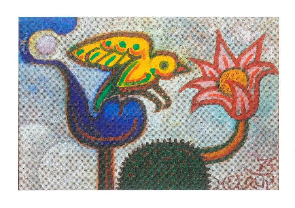 Gå til varen: Fugl og blomst