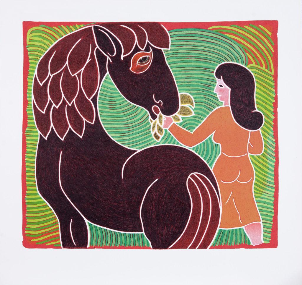 Gå til varen: Pigen og hesten