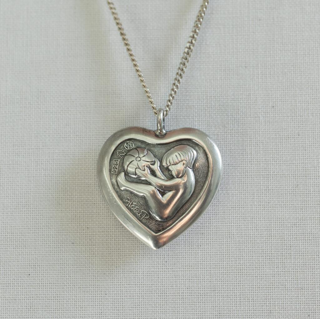 Gå til varen: Lille originalt Heerup Hjerte i Sterling sølv
