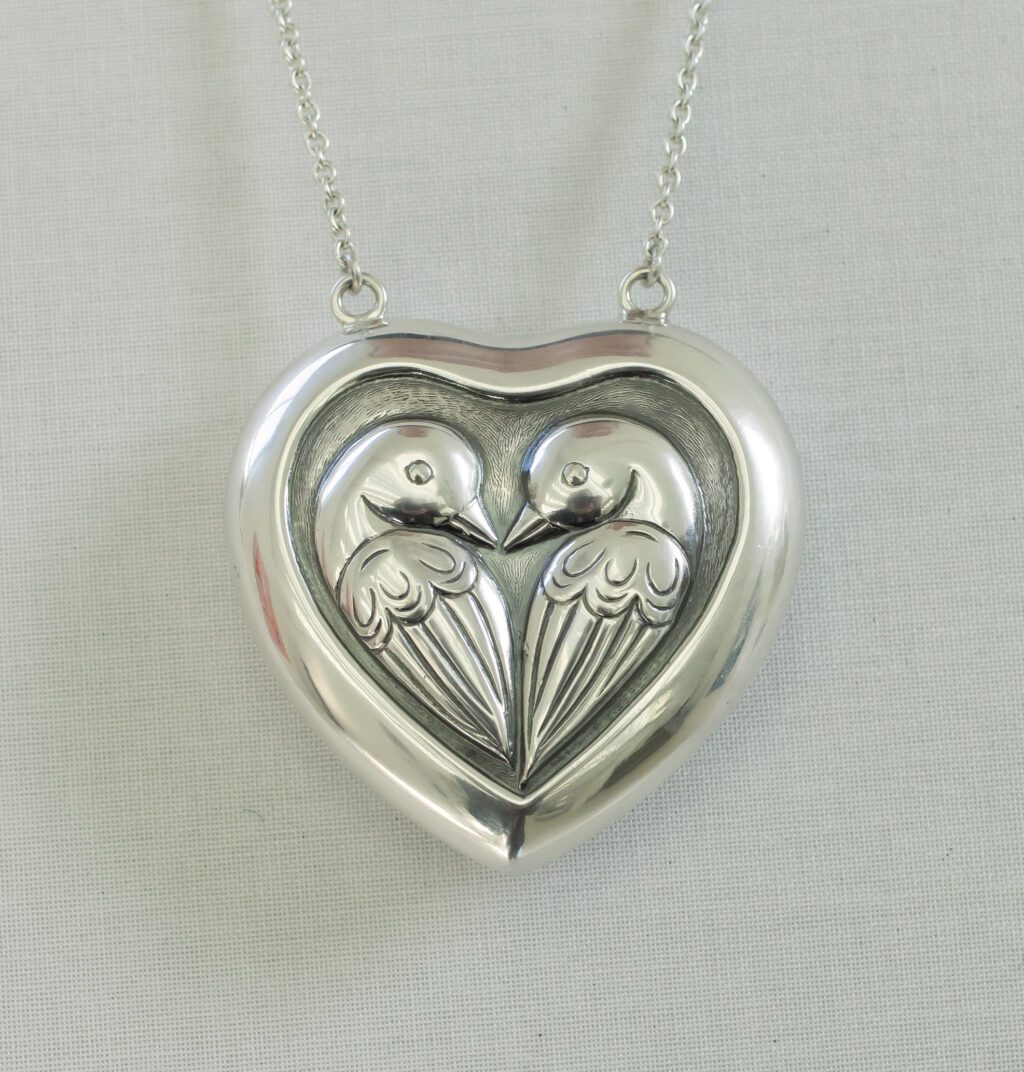 Gå til varen: Stort originalt Heerup Hjerte i Sterling sølv